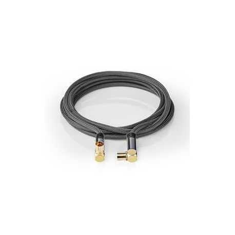 High Speed HDMI met Ethernet Adapter Links Gehoekt HDMI-Connector - HDMI Female Zwart