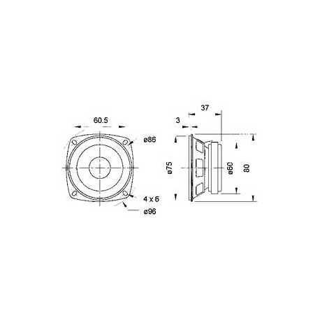 """Dome tweeter 20 mm (0.8"""") 4 Ohm"""