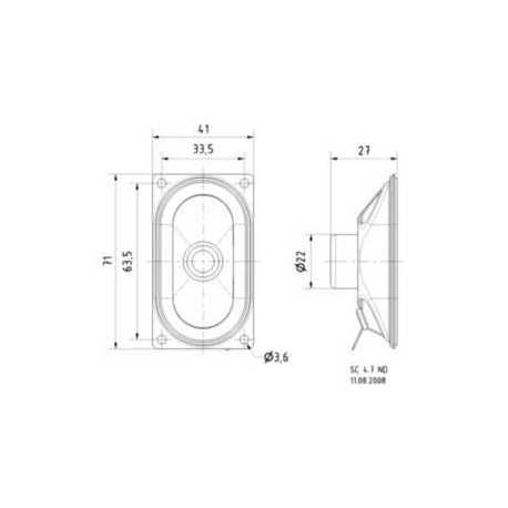 """High-End dome tweeter 20mm (0,8"""") 8 Ohm"""